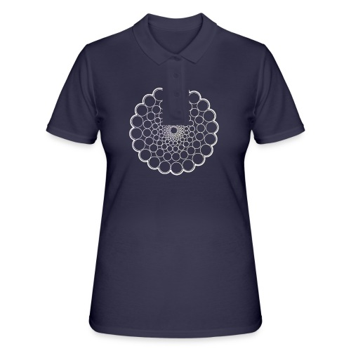 White Spectrum Mandala - Women's Polo Shirt