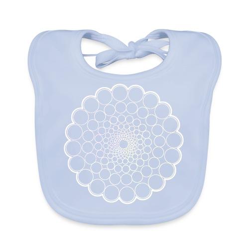 White Spectrum Mandala - Baby Organic Bib