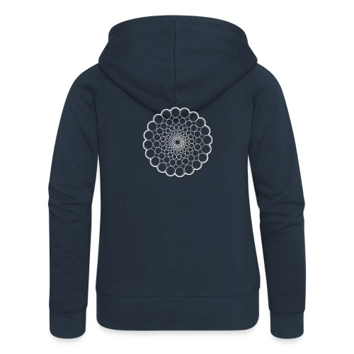 White Spectrum Mandala - Women's Premium Hooded Jacket