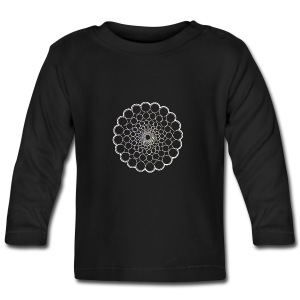 White Spectrum Mandala - Baby Long Sleeve T-Shirt