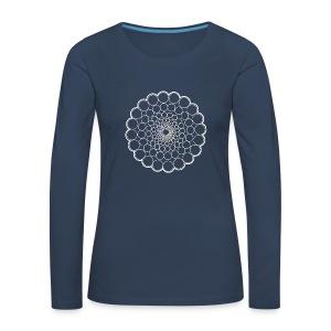 White Spectrum Mandala - Women's Premium Longsleeve Shirt