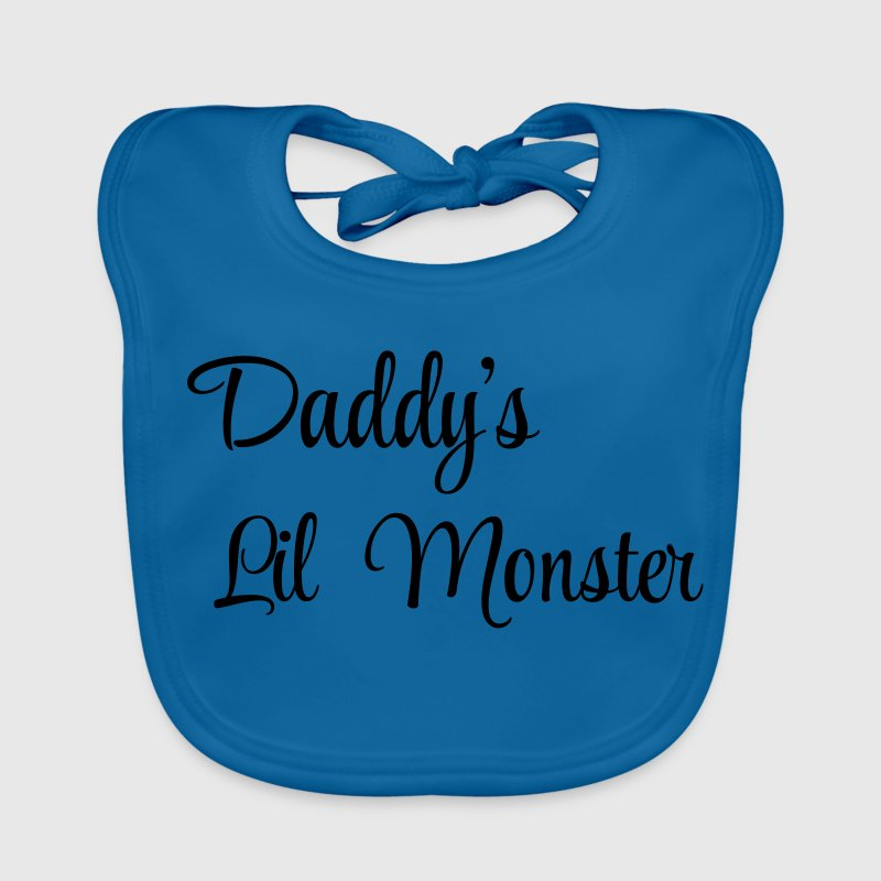 Daddy's little monster Babyhaklapp - Ekologisk babyhaklapp