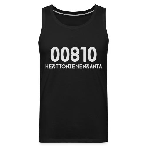 00810 HERTTONIEMENRANTA - Miesten premium hihaton paita