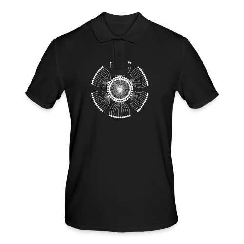 White Poppy Seed Mandala II - Men's Polo Shirt