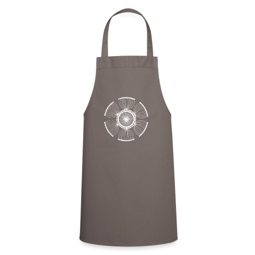 White Poppy Seed Mandala II - Cooking Apron