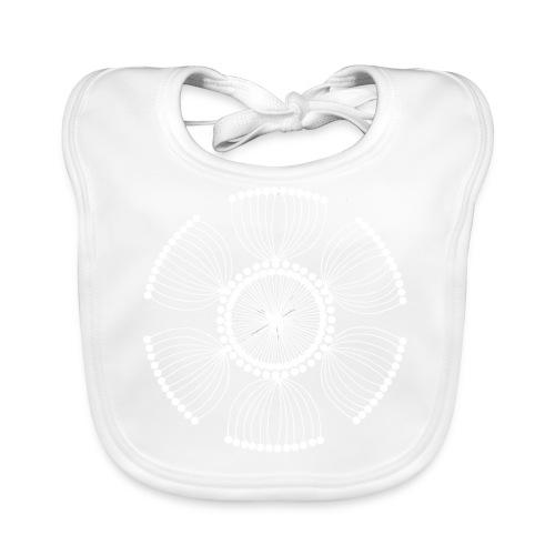 White Poppy Seed Mandala II - Baby Organic Bib