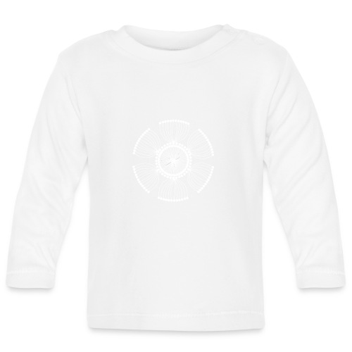 White Poppy Seed Mandala II - Baby Long Sleeve T-Shirt