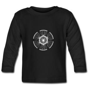 White Poppy Seed Mandala II - Baby Long Sleeve T-Shirt