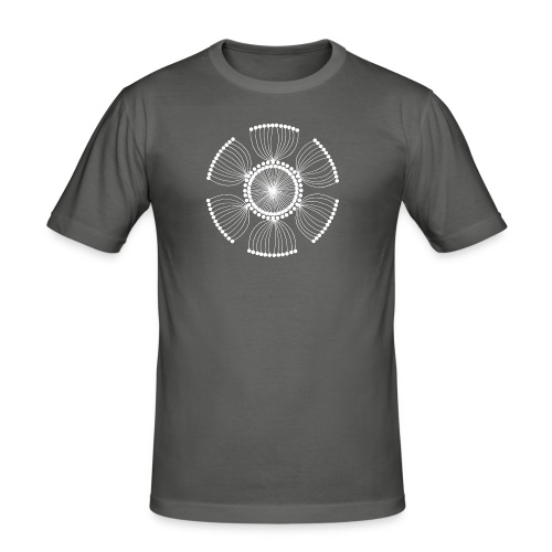 White Poppy Seed Mandala II - Men's Slim Fit T-Shirt