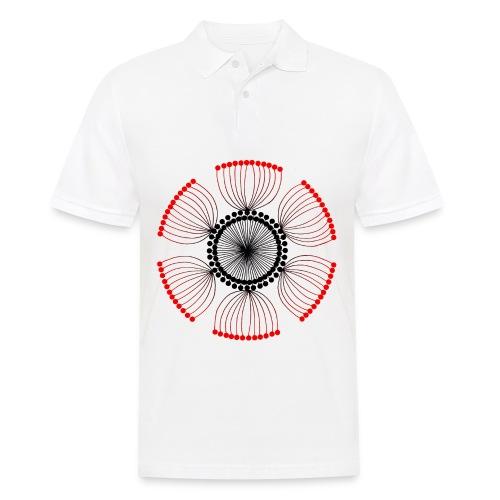 Red Poppy Seeds Mandala - Men's Polo Shirt