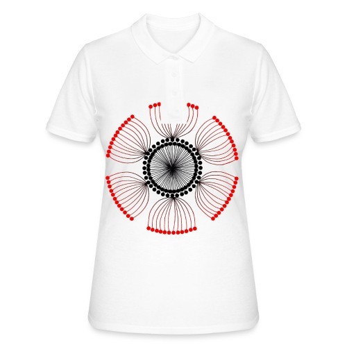 Red Poppy Seeds Mandala - Women's Polo Shirt