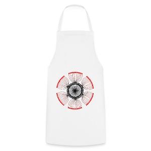Red Poppy Seeds Mandala - Cooking Apron