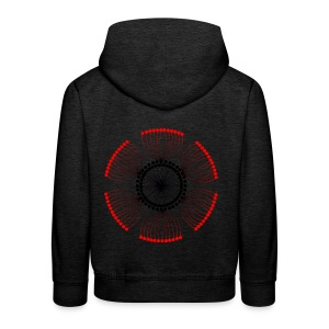 Red Poppy Seeds Mandala - Kids' Premium Hoodie