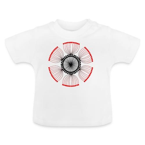 Red Poppy Seeds Mandala - Baby T-Shirt