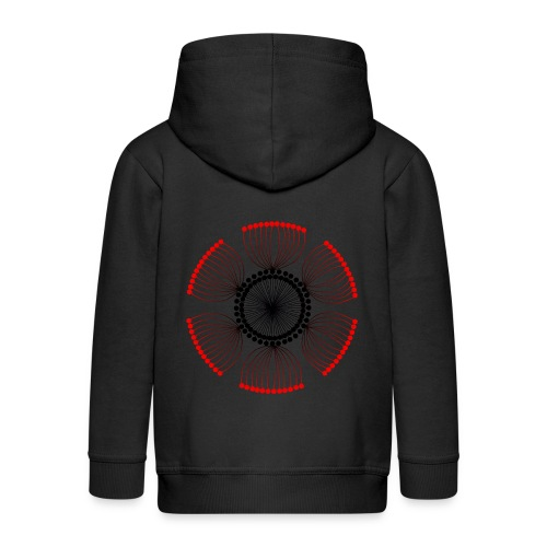 Red Poppy Seeds Mandala - Kids' Premium Zip Hoodie