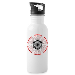 Red Poppy Seeds Mandala - Water Bottle