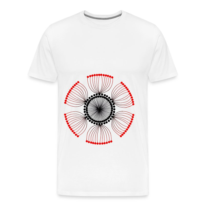 Red Poppy Seeds Mandala - Men's Premium T-Shirt