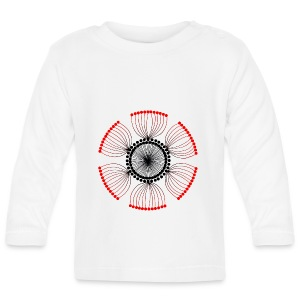 Red Poppy Seeds Mandala - Baby Long Sleeve T-Shirt
