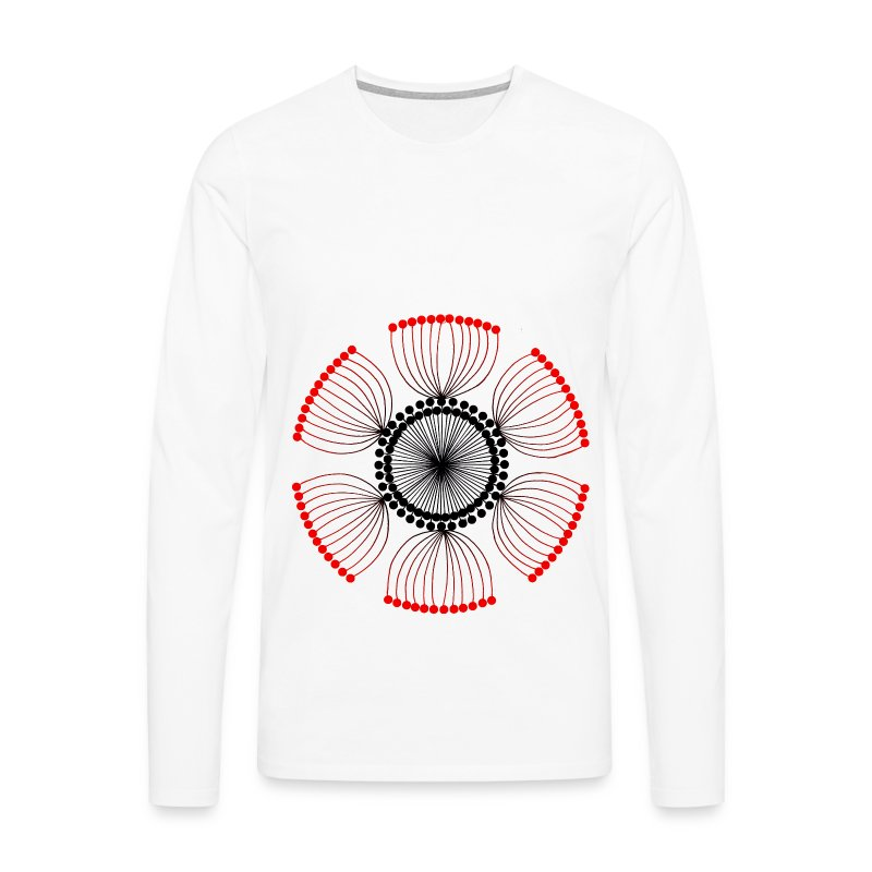 Red Poppy Seeds Mandala - Men's Premium Longsleeve Shirt