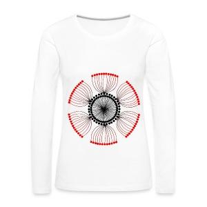 Red Poppy Seeds Mandala - Women's Premium Longsleeve Shirt