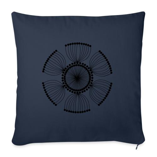 Poppy Seeds Mandala - Sofa pillowcase 17,3'' x 17,3'' (45 x 45 cm)