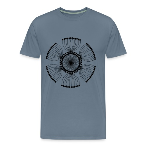 Poppy Seeds Mandala - Men's Premium T-Shirt