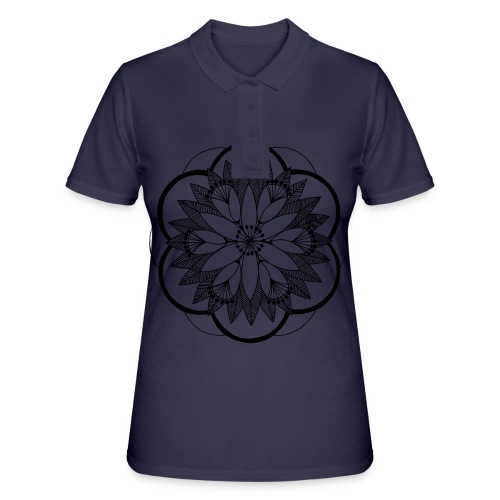 Pond Bouquet Mandala - Women's Polo Shirt