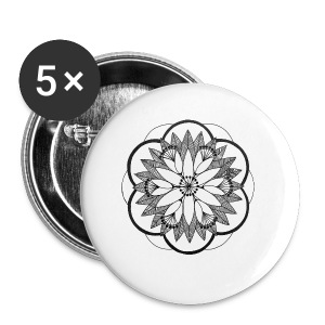 Pond Bouquet Mandala - Buttons small 25 mm