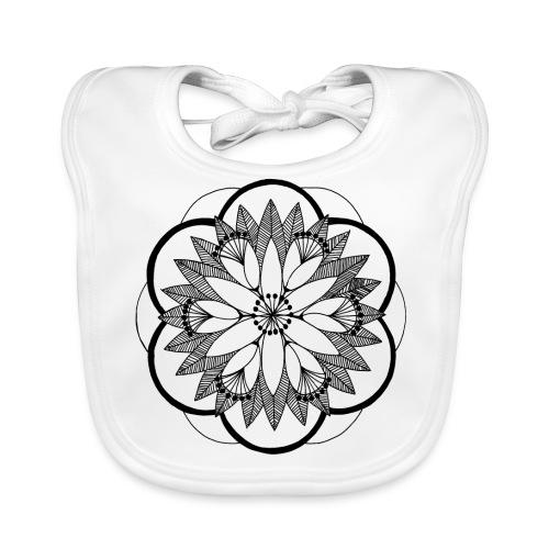 Pond Bouquet Mandala - Baby Organic Bib