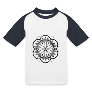 Pond Bouquet Mandala - Kids' Baseball T-Shirt