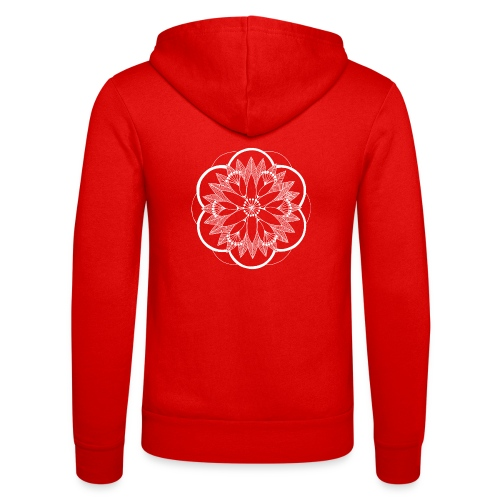 White Pond Bouquet Mandala - Unisex Hooded Jacket by Bella + Canvas