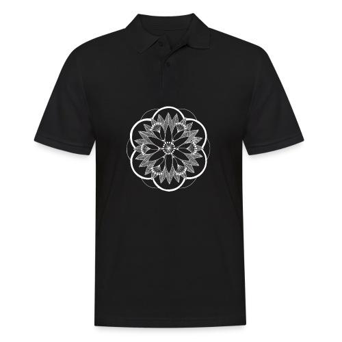 White Pond Bouquet Mandala - Men's Polo Shirt