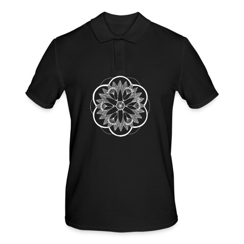 White Pond Bouquet Mandala - Men's Polo Shirt