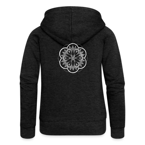 White Pond Bouquet Mandala - Women's Premium Hooded Jacket