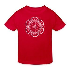 White Pond Bouquet Mandala - Kids' Organic T-shirt