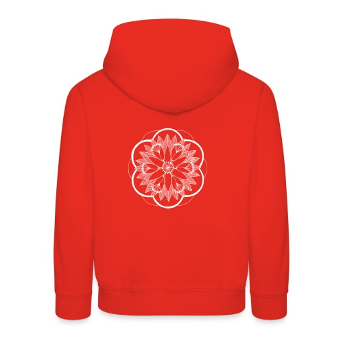 White Pond Bouquet Mandala - Kids' Premium Hoodie
