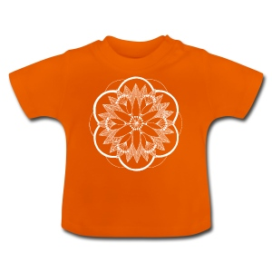 White Pond Bouquet Mandala - Baby T-Shirt