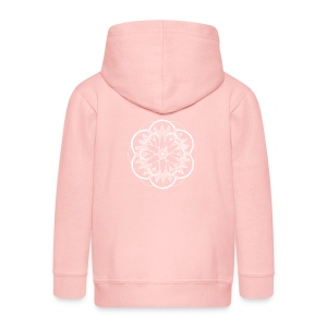 White Pond Bouquet Mandala - Kids' Premium Zip Hoodie