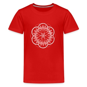 White Pond Bouquet Mandala - Teenage Premium T-Shirt