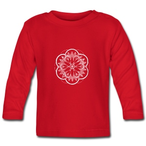 White Pond Bouquet Mandala - Baby Long Sleeve T-Shirt