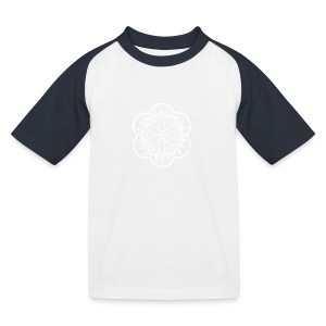 White Pond Bouquet Mandala - Kids' Baseball T-Shirt