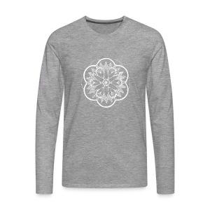 White Pond Bouquet Mandala - Men's Premium Longsleeve Shirt