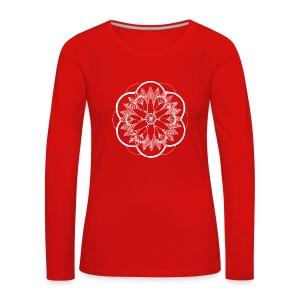 White Pond Bouquet Mandala - Women's Premium Longsleeve Shirt