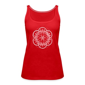 White Pond Bouquet Mandala - Women's Premium Tank Top