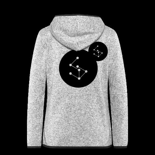 Lan Circle Man Shirt Black - Women's Hooded Fleece Jacket