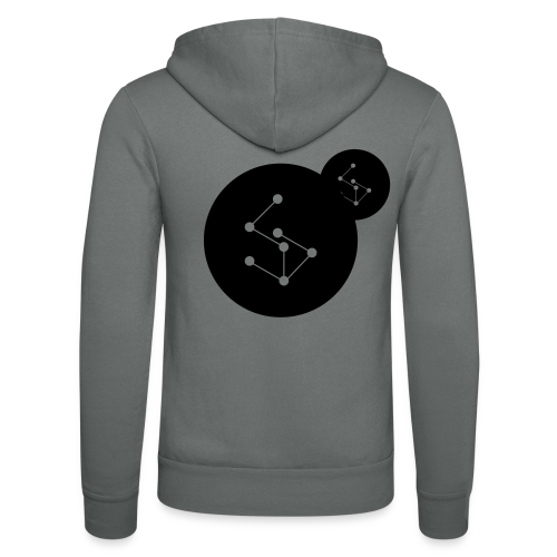 Lan Circle Man Shirt Black - Unisex Hooded Jacket by Bella + Canvas