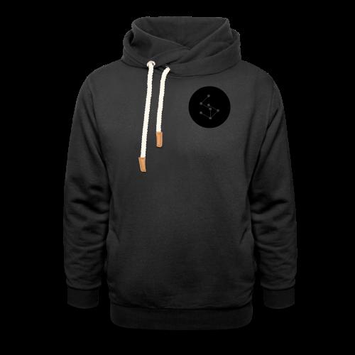 Lan Circle Man Shirt Black - Shawl Collar Hoodie