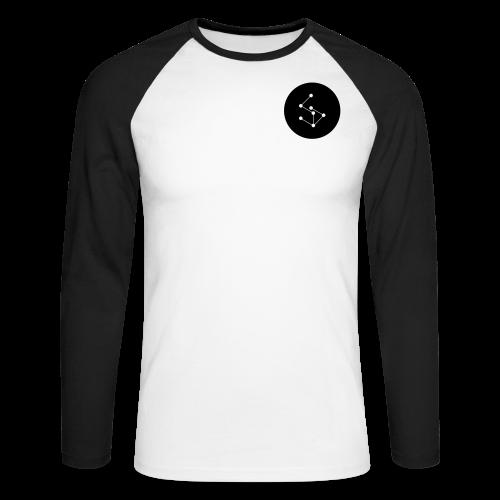 Lan Circle Man Shirt Black - Men's Long Sleeve Baseball T-Shirt