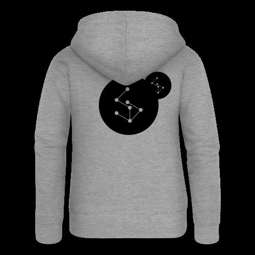 Lan Circle Man Shirt Black - Women's Premium Hooded Jacket