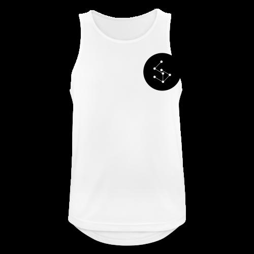Lan Circle Man Shirt Black - Men's Breathable Tank Top